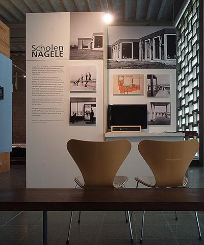 Mien Ruys in de vaste expositie Nagele